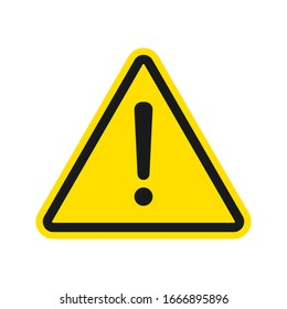 Warning sign. exclamation, alert icon vector in modern design