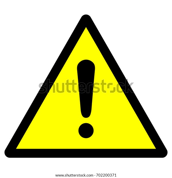 Warning sign with exclamation mark symbol, vector illustration.