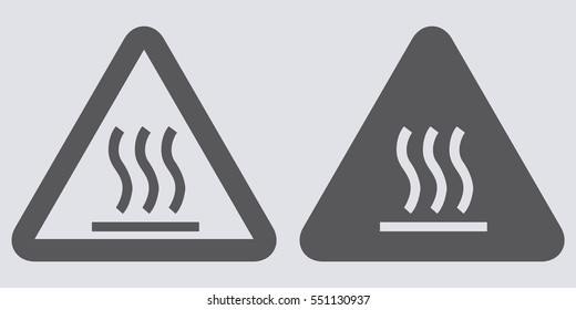 Warning sign for hot surface. Vector illustration