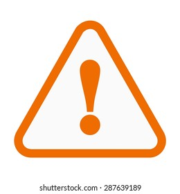Warning, sign, warning sign icon vector image. Can also be used for construction, interiors and building. Suitable for use on web apps, mobile apps and print media.