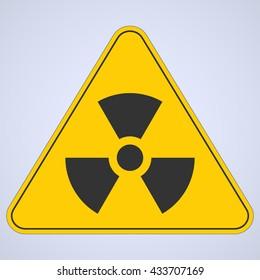 Warning sign. Nuclear danger