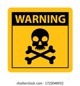 warning sign on white background