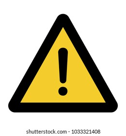 warning sign on a yellow background