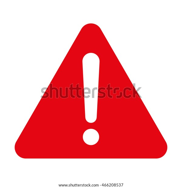 警告記号、赤い警告記号、警告記号アイコン、白い背景に警告記号、警告記号のベクター画像、警告記号のイラスト。三角形の警告記号