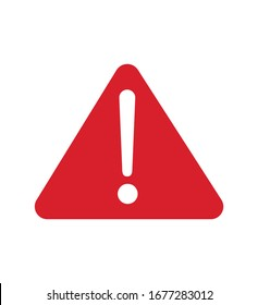 Warning sign red warning sign Icon vector illustration triangle warning sign isolated