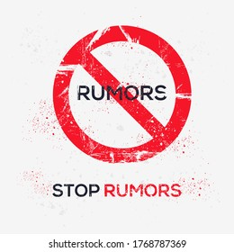 Warning sign (rumors), vector illustration.