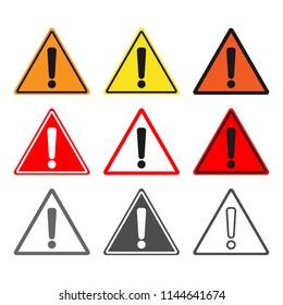 Warning sign. Vector.