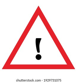warning sign vector triangle hazard