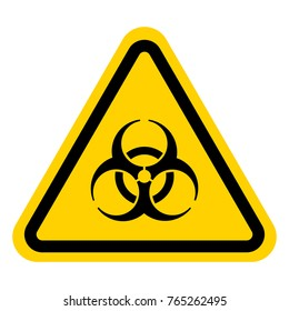 Warning sign of virus. Biohazard icon. Biohazard symbol.