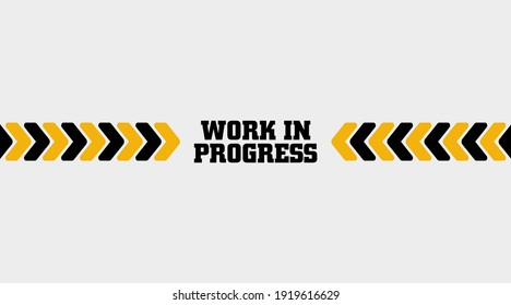 warning sign. Work in progress background.