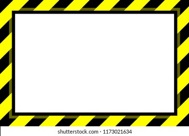 warning sign yellow black stripe frame template background copy space, banner frame striped awning yellow, stripe frame for advertising promotion sale discount on media online beauty products (vector)