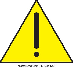 Warning Sign yellow vector no background eps