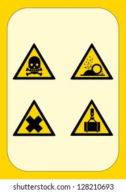Warning signs - Set Yellow