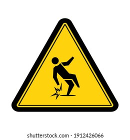 Warning slippery when wet sign and symbol graphic design vector illustration