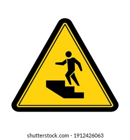 Warning step up sign and symbol graphic design vector illustration
