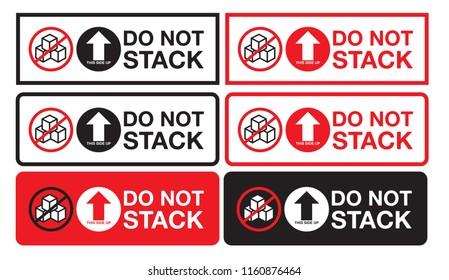Do Not Stack Aufkleber
