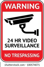 Warning Sticker for Security Alarm CCTV Camera Surveillance
