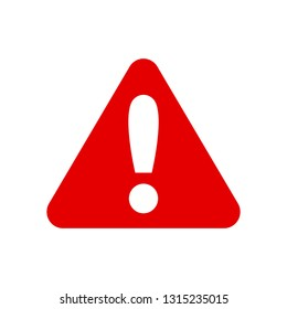 Warning, stop sign icon with exclamation marc - vector
