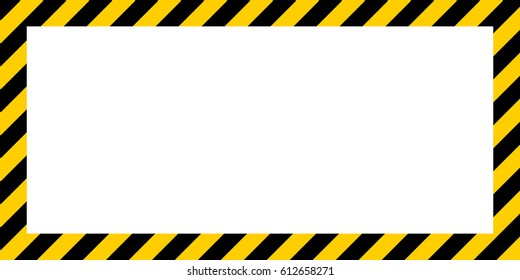 warning striped rectangular background, yellow and black stripes on the diagonal, warning to be careful  potential danger vector template sign border yellow and black color Construction warning border