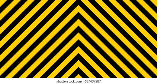 warning striped rectangular background, yellow and black stripes on the diagonal in different directions, a warning to be careful - the potential danger the size of the load vector sign template