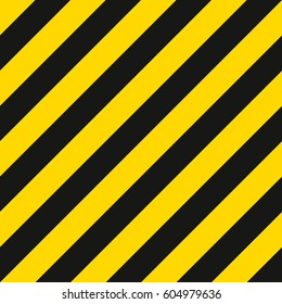 warning striped rectangular pattern, yellow and black stripes on the diagonal, a warning to be careful - the potential danger vector template sign