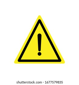 Warning symbol design vector template