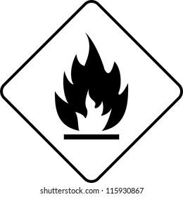 Warning symbol flame