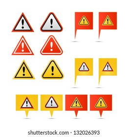 Warning symbol icons