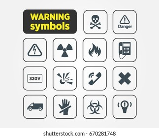 Warning symbol template