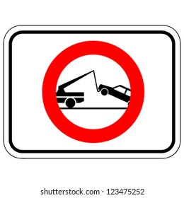 warning tow away sign - vector illustration