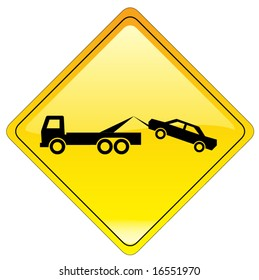 warning tow away zone sign - also available as JPEG