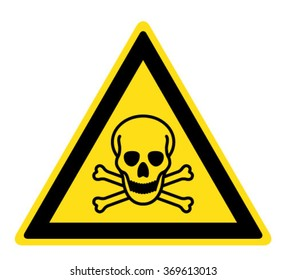 Warning Toxic material sign (eps 10)