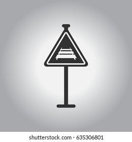Warning traffic sign Railroad