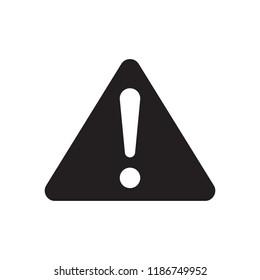 Warning triangle vector icon. Error, alert, problem, failure symbol
