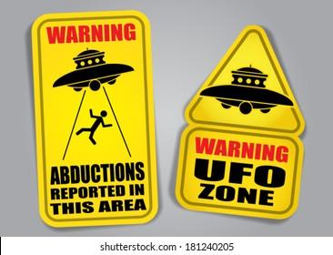 Warning UFO Signs