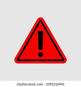 warning - vector icon. warning red sign