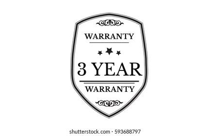 warranty 3 year icon vector