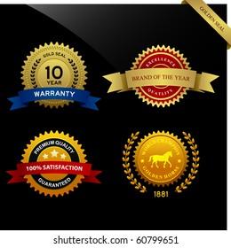 Warranty Guarantee Gold Seal Ribbon Vintage Award