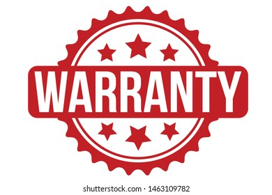 Warranty Rubber Stamp. Warranty Stamp Seal – Vector
