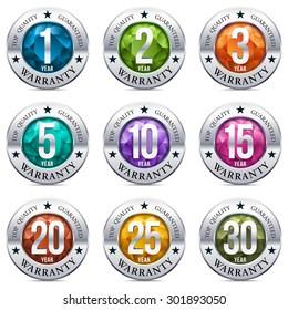 Warranty Seal Chrome Badge with Gem Stones