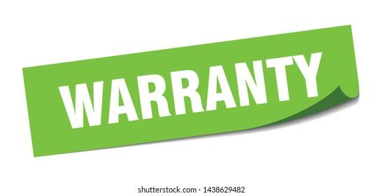 warranty square sticker. warranty sign. warranty banner