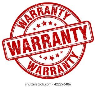warranty. stamp