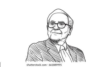 Warren Buffet Vector Illustration