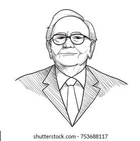 Warren Buffett vector Illustration