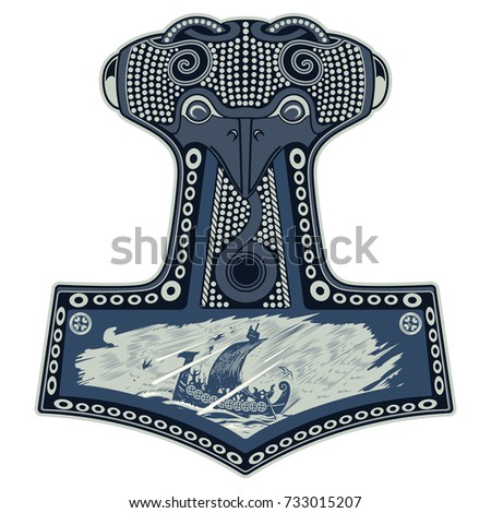 Warrior Barbarian Viking Berserker Axe Shield Stock Vector Royalty