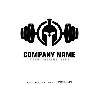 Warrior Fitness Gym Logo Design Template