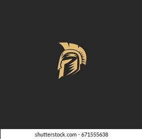Warrior helmet icon, vector illustration