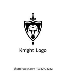 Warrior Knight Logo Stock Vector