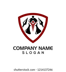 Warrior Lab, a combination of beaker and warrior helmet as logo templates for various types of businesses related to labs and soldiers.