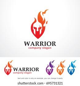 Warrior Logo Template Design Vector, Emblem, Design Concept, Creative Symbol or Icon